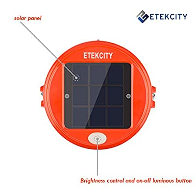 Etekcity 2 Pack Portable Outdoor Rechargeable Solar Powered LED Camping Lantern (Orange)