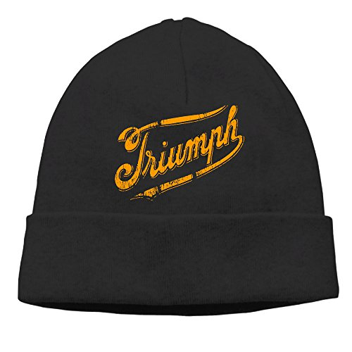 [Unisex Triumph Modern Logo Beanies New Wool Caps Hats Fits Most Black] (Crazy Christmas Hats)