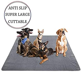 """Yangbaga Newest Extra Large Pee Pads for Dogs, 72.5""""72.5"""" Non Slip Dog Pee Pads for Large Dogs and Multiple Dogs with Great Absorbency, Cut to Fit in a Crate or Car Seats, Odor Control Training Pads"""