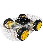 ULTECHNOVO Diy Slimme Auto Chassis Kit Robot Met Snelheid Encoder Batterij Box Wielen Voor Arduino Diy