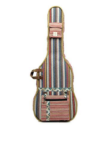 The House of Tara - Multicolour Handloom Fabric Guitar Bag 1