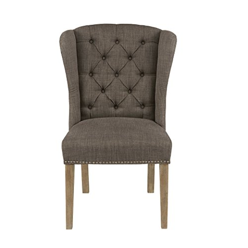 Madison Park Tufted Wing Dining Chair Jodi/Grey