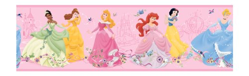 York Wallcoverings Disney Kids DK5945BD - Cenefa, diseño de princesa, color rosa, Muestra, Rosa .22