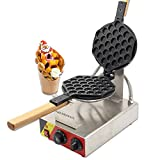 CGOLDENWALL NP-547 Commercial Electric Non-Stick Egg Bubble Waffle Maker Iron Machine Baker Hong Kong eggettes Egg Waffle Iron Maker 110V CE Certification