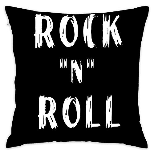 Hsdfnmnsv Rock N Roll Home Decor Decorative Throw Pillow Cover Case Sofa Waist Coach Pillowcase Cushion Cover (18