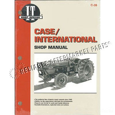 SMC39 New C-39 Shop Manual Made for Case-IH Tractor Models 385 485 585 686 885 (686 Manual)