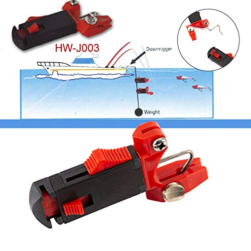 hAohAnwuyg Line Release Clip,Fish Equipment,Fishing Line Release Snap Clip Offshore Planer Board Power Grip Carp Tackle Tool - Black+Red