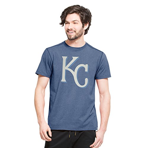 ('47 MLB Kansas City Royals Men's High Point Tee, Small, Shift Blue)