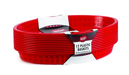 TableCraft Products C1086R Cash and Carry Basket, Texas, Red (Pack of 36) by Tablecraft