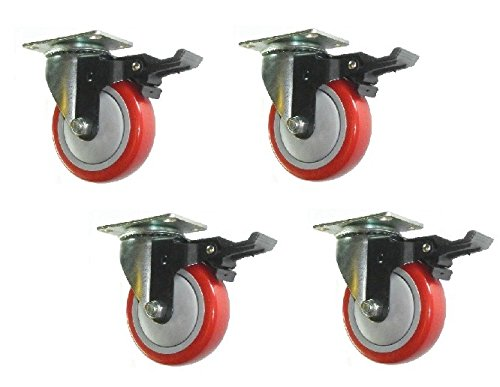 Swivel Plate Casters Locking Brakes product image
