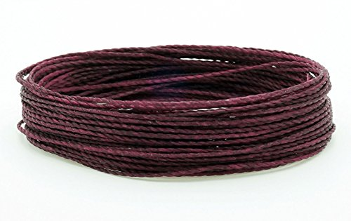 CHERRY BLACK 1mm Waxed Polyester Twisted Cord Macrame Bracelet Thread Artisan String (30yards Skein)
