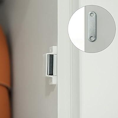 Navaris 10x cierres magnéticos - cierre magnético para puerta de armario y muebles - pestillo magnético para cerrar puerta en blanco: Amazon.es: Bricolaje y herramientas
