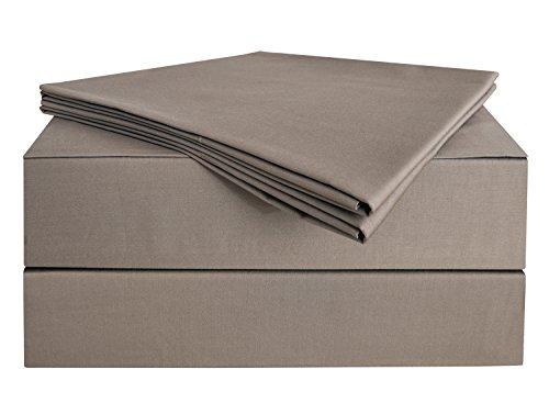 Cotton Organic Mocha (PHF Sheet Set Bamboo Cotton 300T Deep Pocket 4 Pieces Queen Size Mocha Brown)