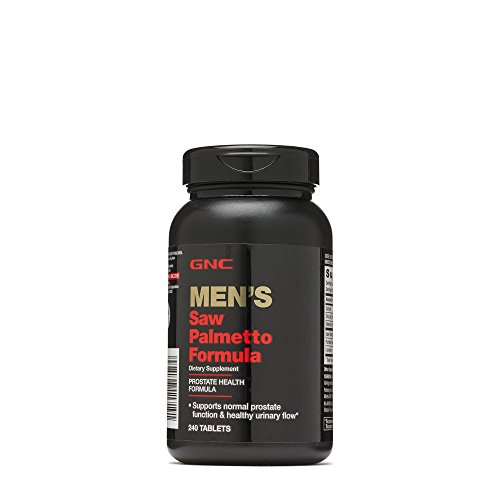 GNC Mens Saw Palmetto Formula, 240 Tablets, Supports Normal Prostate Function (Best Saw Palmetto For Prostate)