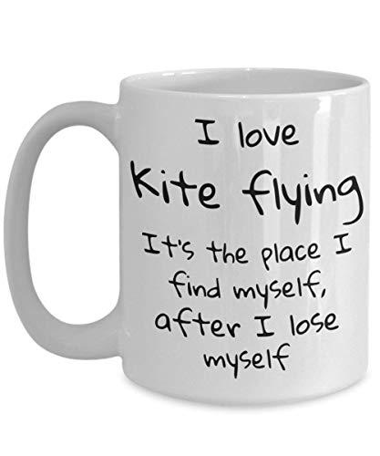 Coffee mug, Hobbies, Kite flying, Coworker gifts, Gifts for her, Mugs with sayings, Gifts for him, Quotes, Espresso cups, Desk Accessories ()