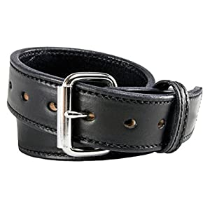 The Ultimate Concealed Carry CCW Leather Gun Belt - 2016 Model - New and Improved - 14 ounce 1 1/2 inch Premium Full Grain Leather Belt - Handmade in the USA! Black Size 40