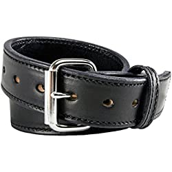 The Ultimate Concealed Carry CCW Leather Gun Belt - 2016 Model - New and Improved - 14 ounce 1 1/2 inch Premium Full Grain Leather Belt - Handmade in the USA! Black Size 38