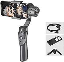 Andoer Gimbal Stabilizer voor Smartphone 3-Axis Handheld Gimbal met Mini Statief voor Sport Camera Adapter Plaat...