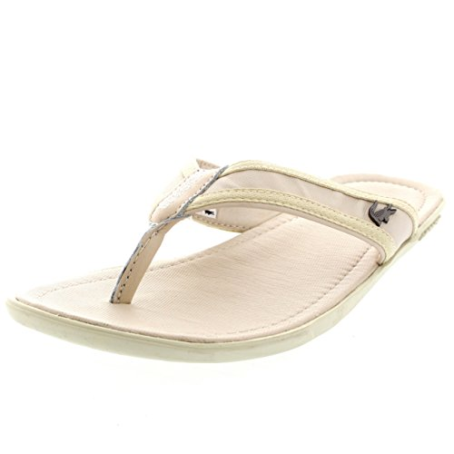 3203530567c4 Mens Lacoste Carros 6 Summer Leather Slip On Vacation Flip Flops ...