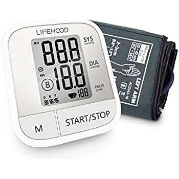 Blood Pressure Monitor – Clinically Accurate & Fast Reading, 60 Reading Memory Automatic Upper Arm Digital BP Monitor with Large Display & Buttons, ...