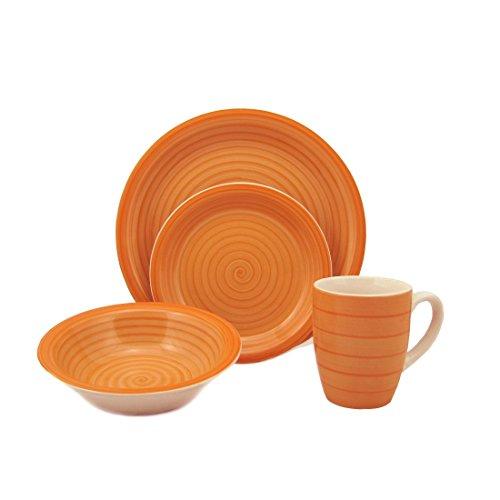 Swirl 16 Piece Dinnerware Set, Stoneware Dinnerware