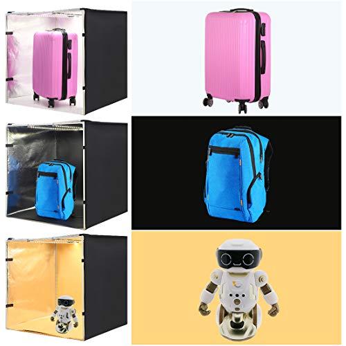 PULUZ Photo Studio Light Box 31.5'' X 31.5'' X 31.5'' / 80 X 80 X 80 cm LED 5500LM Mini Portable Photo Studio Shooting Tent with 3 Backgrounds White Black Orange 80W by PULUZ (Image #5)