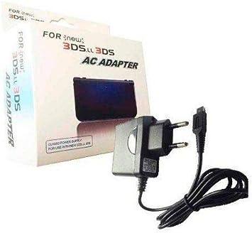 OcioDual Cargador para Consola Nintendo 3DS/3DS XL/2DS/2DS XL/DSi/DSi XL/New 3DS Alimentador Adaptador de Corriente Pared EU AC