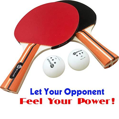 4 Pack Pro Premium Table Tennis Racket Set JP WinLook Ping Pong Paddle
