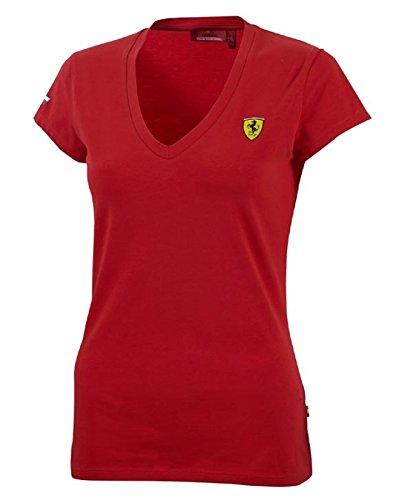 人気の フェラーリレッドレディースクラシックVネックTeeシャツ B00UOR6AQC Large レッド レッド Large B00UOR6AQC, GirassoL:b4259b33 --- arianechie.dominiotemporario.com