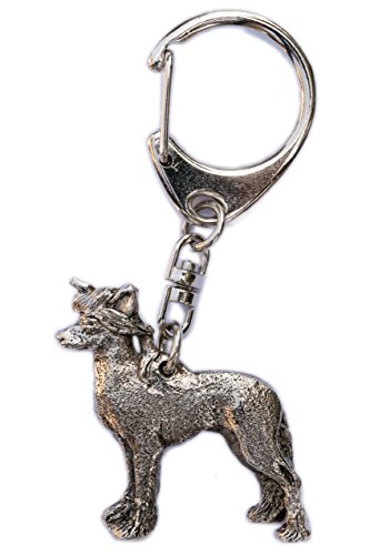 Chinese Crested Made in U.K Artistic Style Dog Key Ring Collection Chinese Crested Accessories