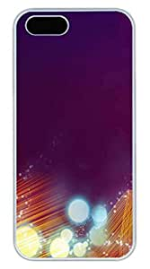 Lights Creative Background 2 Cover Case Skin for iPhone 5 5S Hard PC White