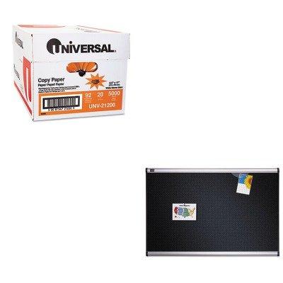 KITQRTB347AUNV21200 - Value Kit - Quartet Embossed Bulletin Board (QRTB347A) and Universal Copy Paper (UNV21200)