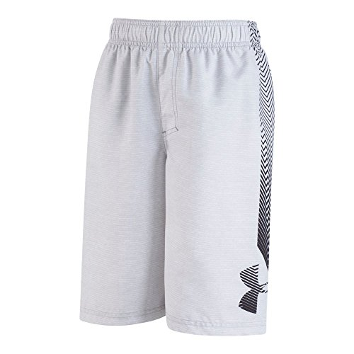 Under Armour Big Logo Volley Little Boys' Swim Shorts, Overcast Gray, 5 ()