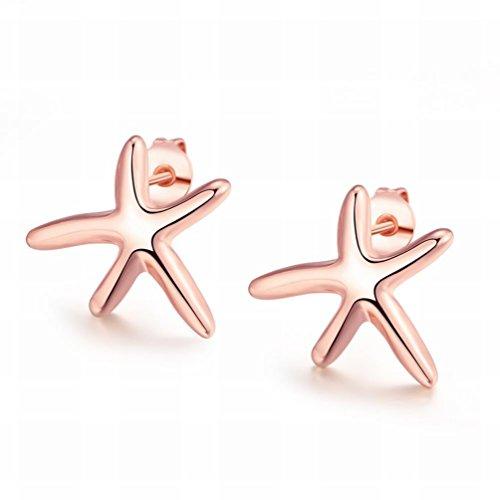 MOMO une Paire de Boucles D'oreille en Étoile de Starfish Star de la Mode de la K de Mode K / Boucles D'oreilles Fines Anti-allergiques / Zircones