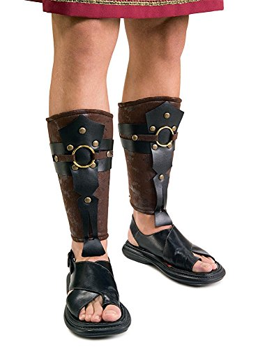 [Rubies Roman Greaves Gladiator Leg Guards] (Mens Trojan Costume)