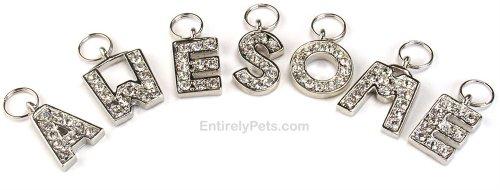 - Haute Diggity Dog Initial Rhinestone Pendant Charm, Letters: D