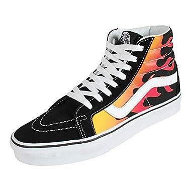 2c0b0971962f Vans SK8 Hi Reissue Flame Black True White Men s Skate Shoes Size 11