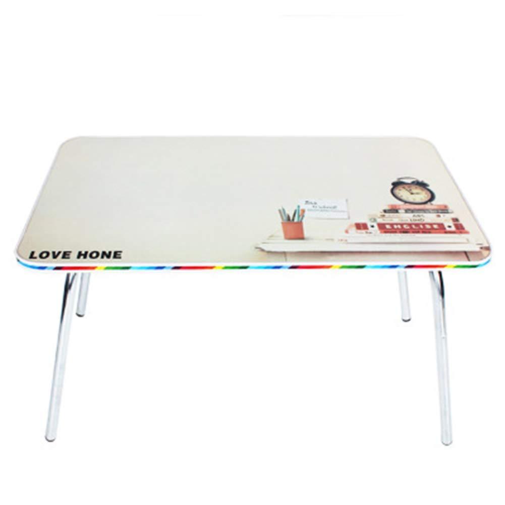 実用デスク 壁掛け式ポータブルラップトップデスク/怠惰なテーブルシンプルな丸みを帯びたエッジ取り付け不要クイック折りたたみ寮の部屋子供向けの学習、木材(色:A) (色 : D)  D B07QRR6T99