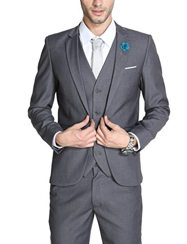 Men's Solid Stretch Slim Fit Suit