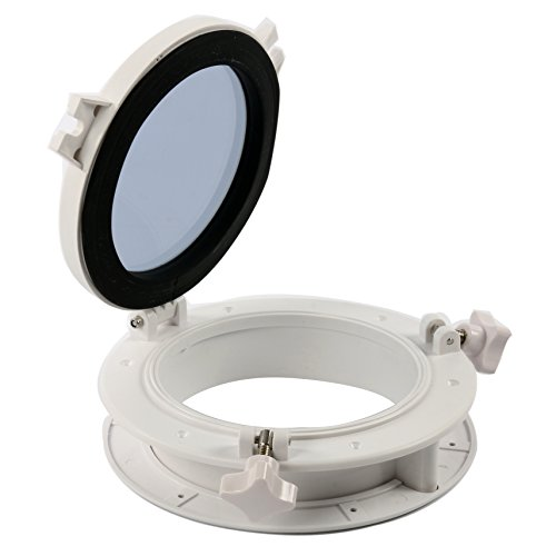 Amarine-made-Boat-Yacht-Round-Opening-Portlight-Porthole-8-Replacement-Window-Port-Hole-ABS-Clear-Tempered-Glass
