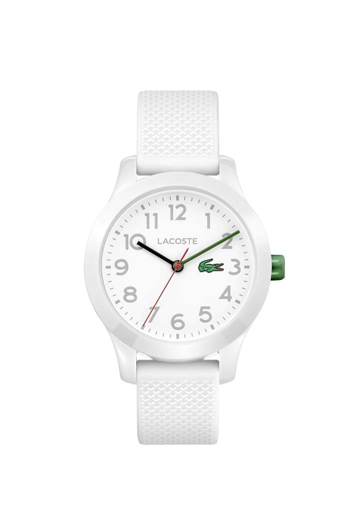 Lacoste Kids 12.12, Quartz TR-90 and Rubber Strap Casual Watch, White, 2030003 by Lacoste