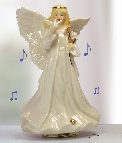Sympathy Angel Revolving Music Box - Porcelain Angel - In Loving Memory Music Box