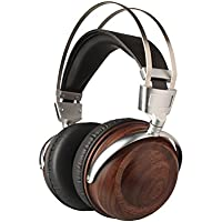 B6 Walnut Wood Powerful Bass Dynamic&Balance Armature Hybrid Over Ear Headphone