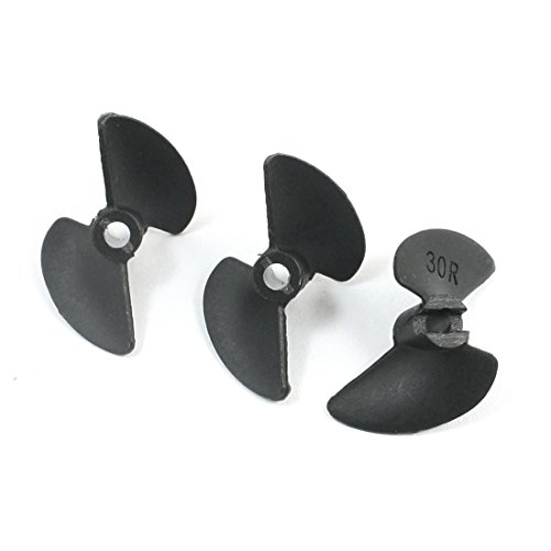 Price comparison product image 3Pcs 3014R 30mm P / D 1.4 Plastic 2-Blade CCW Propeller Prop for RC Boat