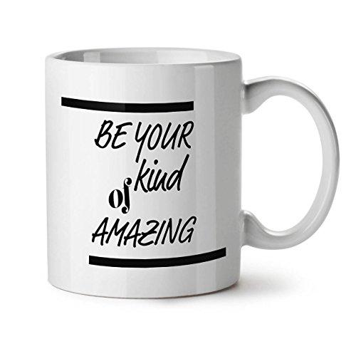 Motivational Quote Positive White Tea Coffee Ceramic Mug 11 oz | Wellcoda (Positive Quote Mugs compare prices)
