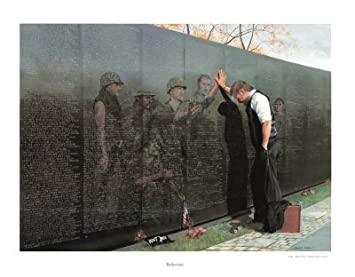 Vietnam Reflections War Memorial Poster Fine Art Print by Lee Teter Overall Size 30×23 Image Size 26×19