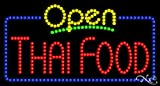 17x32x1 inches Thai Food Animated Flashing LED Window Sign