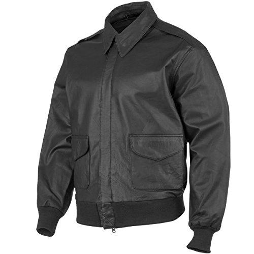 Mil-Tec A-2 Leather giacca Volo Nero