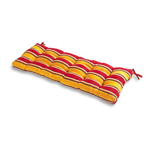 Greendale Home Fashions 51-Inch Indoor/Outdoor Bench Cushion, Carnival (Stripe Cushion)