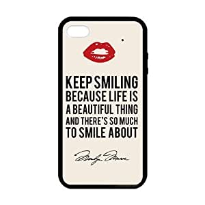 Marilyn Monroe Quote Red Lips Case for iPhone 5 5s case